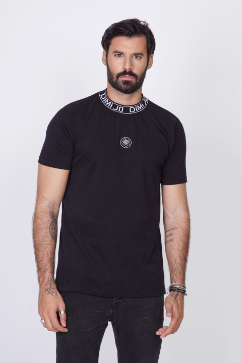 DIMIJO NECK BLACK TSHIRT