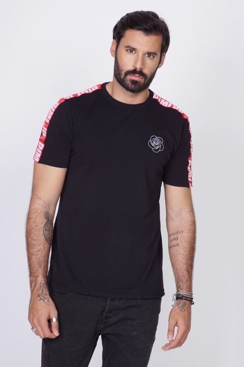DIMIJO WIDE RUN BLACK RED TSHIRT